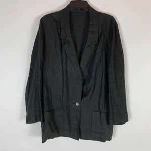 Saks Fifth Avenue Blazer L XL Linen Lagenlook